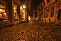 Bruges Street at Night