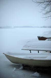 Boats at winter