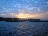 Sunset at island Goree