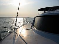 Catamaran Sunny Reflection