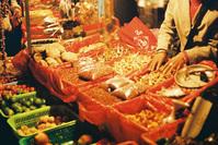 Chinese market stall at night