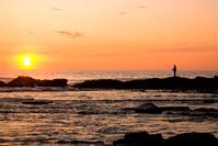 Fisherman on the sunset