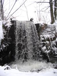 Waterfall in winter 1
