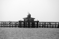 delapidated stranded pier