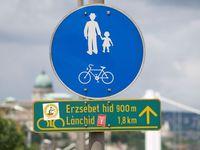 Biking sign in Budapest