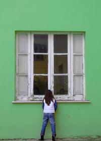 Bheind the window