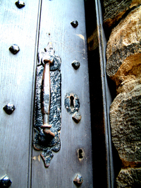 Castle door detail