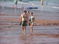 Couple on english beach