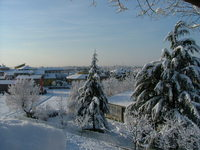 Bergamo snow landscape