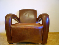 leather armchaer