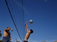 Jogando Volley ball