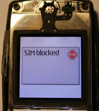 SIM blocked