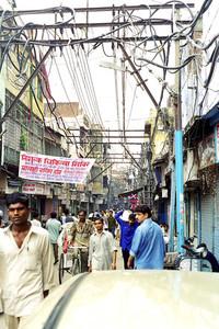 A street in Old Delhi