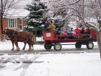 Wagon on the snow