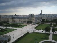 Paris clouded skyline