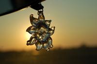 Crystal sun at sunset