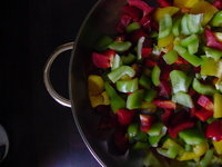 pepper in pan