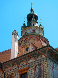 Colourful tower
