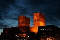 Oslo City Hall by Night