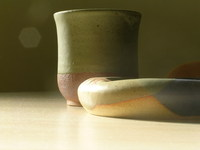ceramic - ash tray and cup 1