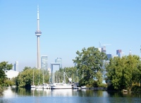 toward the CN Tower and Toronto