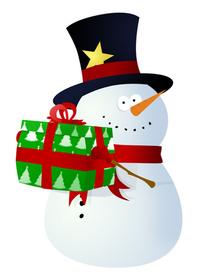 Snowman with surprise - no bkg