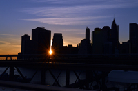 Sunset from Brooklyn Bridge