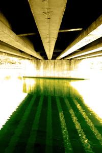 under the railway bridge refle