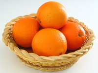 Oranges in basket 1