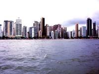 The city on the beach