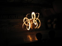 Tharu stick dancer