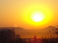 winter sunrise in Botswana