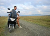 Lonely motorbiker