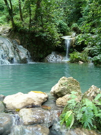 waterfall rock pool
