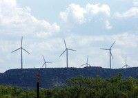 Industrial Windmills At Work