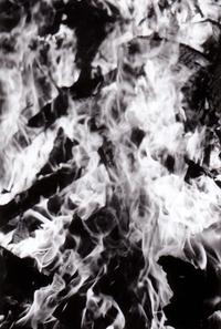 flames b/w