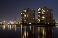 Dutch canal by night