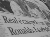 champion ronaldo on the newspa