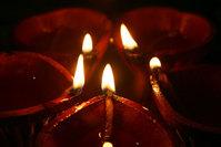 Five Diyas in Diwali