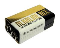 An unbranded 9V battery