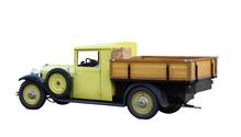 yellow black oltimer truck