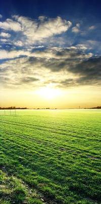 Effet du soleil sur le paysage