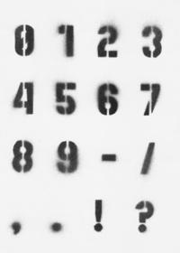 Stencil Alphabet (0-?)