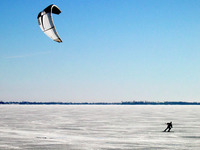 Kitesurf on the Ice