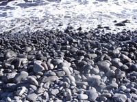 Rocky beach in Maui
