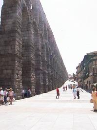 Roman aqueduct in Segovia, Spa
