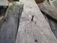 A rusty nail