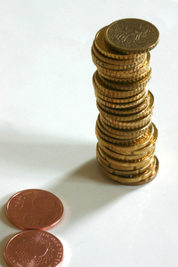 A pile of euro's