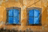 Old windows, urban decay