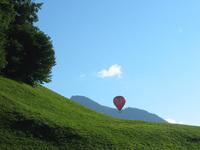 Hot air balloon in Swiss